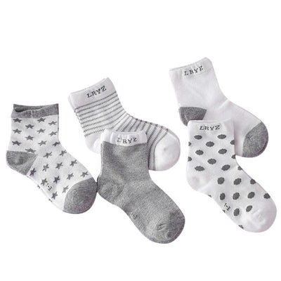 5 Pairs Cotton Socks Set