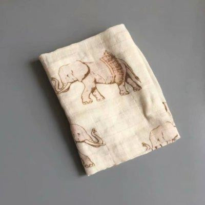 58x58cm Organic Cotton Scarf for Baby - Cream