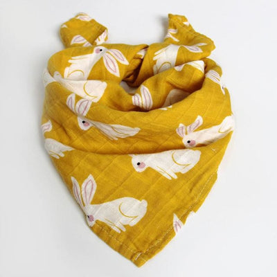 58x58cm Organic Cotton Scarf for Baby - Dark Yellow