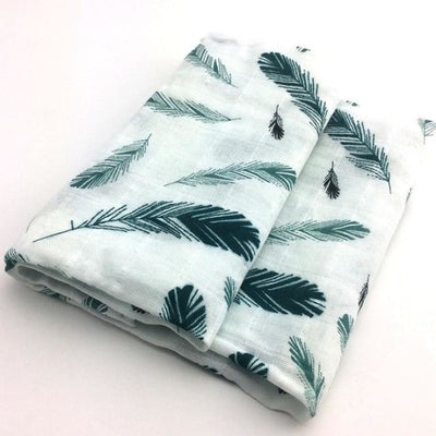 58x58cm Organic Cotton Scarf for Baby - Leaves