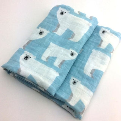 58x58cm Organic Cotton Scarf for Baby - Light Blue