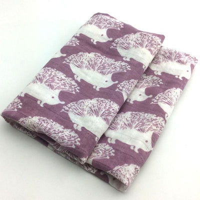 58x58cm Organic Cotton Scarf for Baby - Maroon White