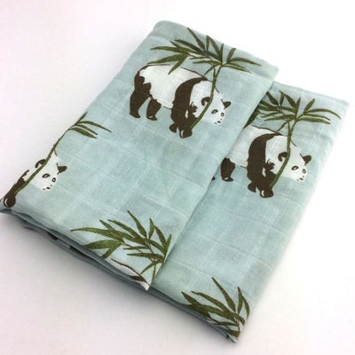 58x58cm Organic Cotton Scarf for Baby - Panda