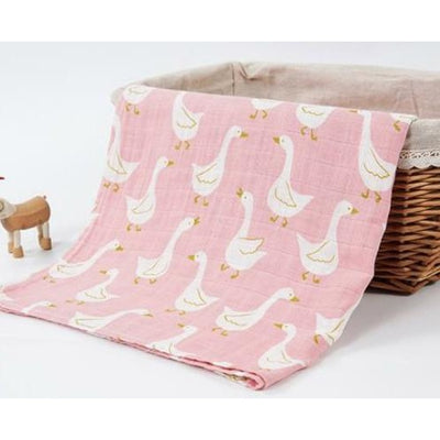58x58cm Organic Cotton Scarf for Baby - Pink Dove