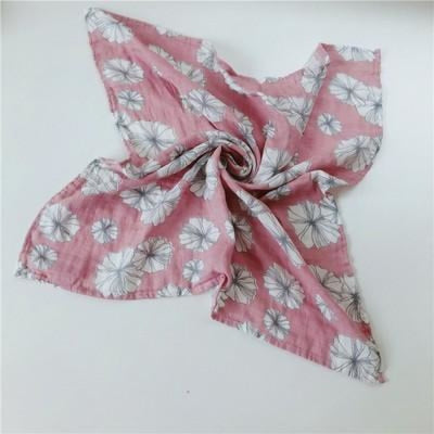 58x58cm Organic Cotton Scarf for Baby - Pink White