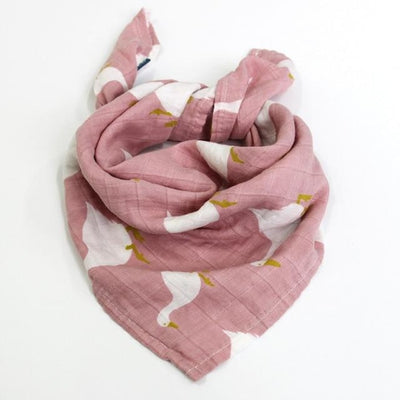 58x58cm Organic Cotton Scarf for Baby - Rose