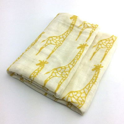 58x58cm Organic Cotton Scarf for Baby - White Yellow