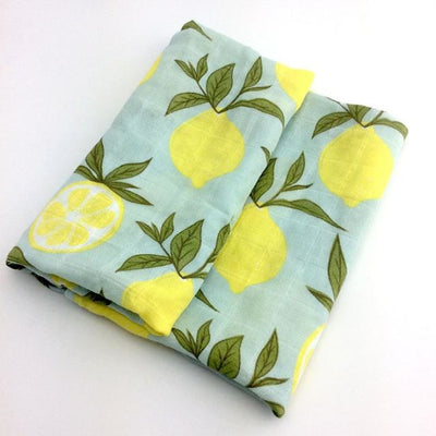 58x58cm Organic Cotton Scarf for Baby - Yellow Flower