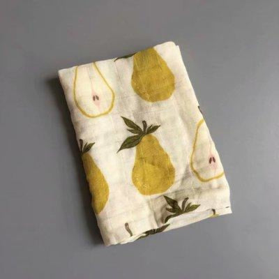 58x58cm Organic Cotton Scarf for Baby - Yellow