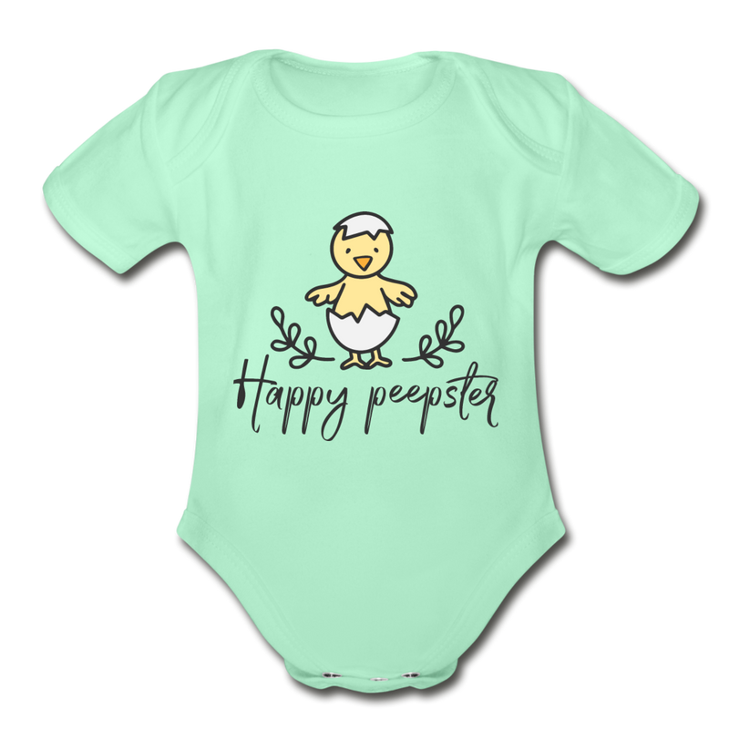 Adorable Happy Easter Onesie for Baby Unisex - light pink