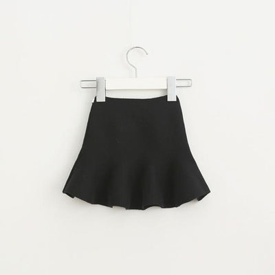Adorable Pleated Tutu Skirt for Girls - black / 18-24 months
