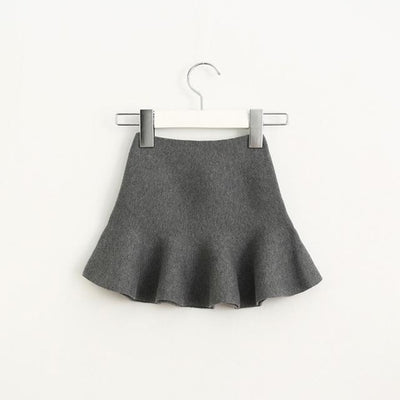 Adorable Pleated Tutu Skirt for Girls - grey / 18-24 months