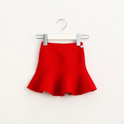 Adorable Pleated Tutu Skirt for Girls - red / 18-24 months