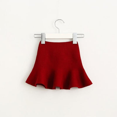 Adorable Pleated Tutu Skirt for Girls - wine red / 18-24 months