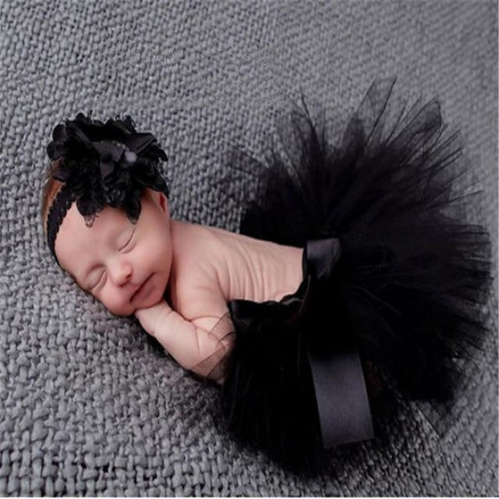 Adorable Skirt Photo Prop with Headband for Baby