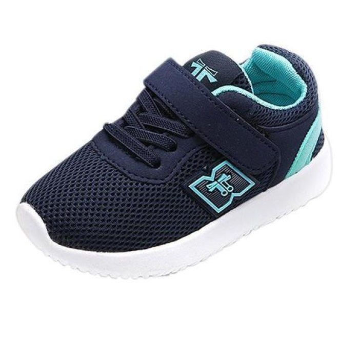 All Season Breathable Baby Boys Outdoor Running Shoes - Blue / US Size 6 / China