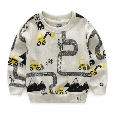 Animal Cotton Hoodies for Boys - Gray / 18-24 months