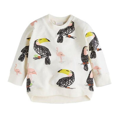 Animal Cotton Hoodies for Boys - White / 18-24 months