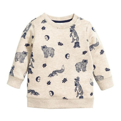 Animal Cotton Hoodies for Boys - White 2 / 18-24 months