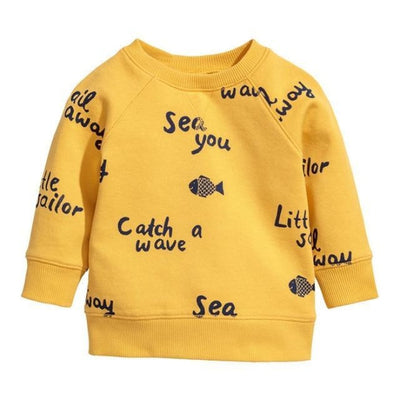 Animal Cotton Hoodies for Boys - Yellow / 18-24 months