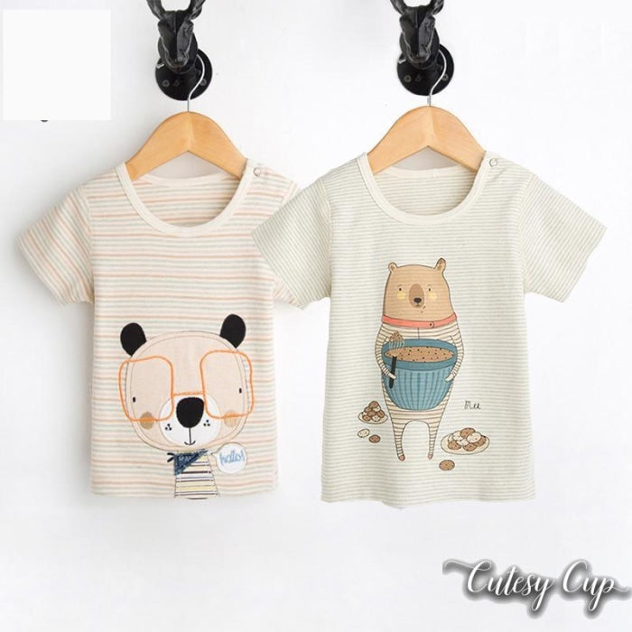 Animal Print Organic Cotton Tees for Baby Girl
