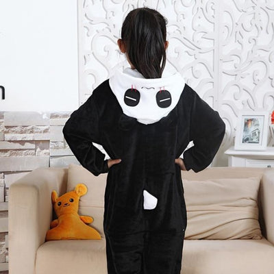 Animal theme Unisex Hooded Pajama Sleepwear sets - Panda / 2-3 years