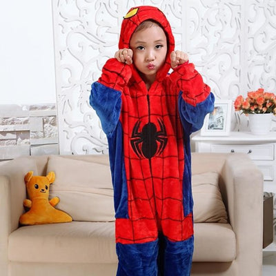 Animal theme Unisex Hooded Pajama Sleepwear sets - Spider / 2-3 years