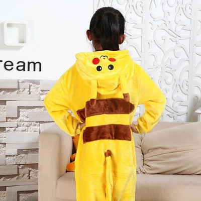 Animal theme Unisex Hooded Pajama Sleepwear sets - Yellow / 2-3 years