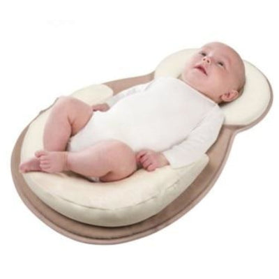 Anti-Rollover Sleep Position Mattress for 0-12 Month Babies - Brown