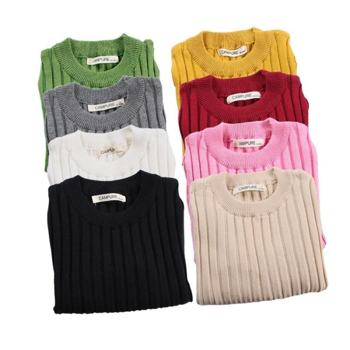 Autumn Winter Cotton Knitted Sweaters for Baby Boys Girls
