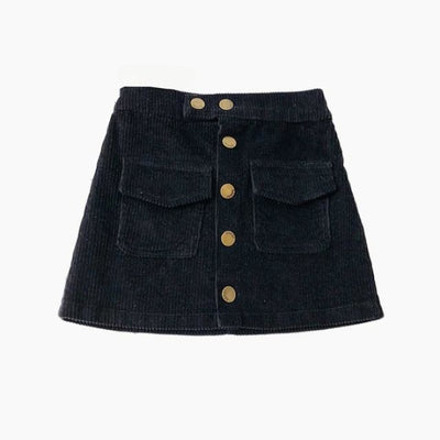 Awesome Corduroy skirt for Girls - Black 2 / 18-24 months
