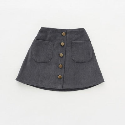 Awesome Corduroy skirt for Girls - Gray / 18-24 months