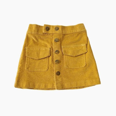 Awesome Corduroy skirt for Girls - Yellow / 18-24 months