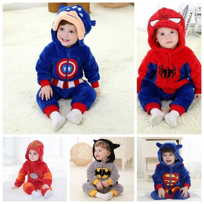 Awesome Superhero Romper for Babies Unisex