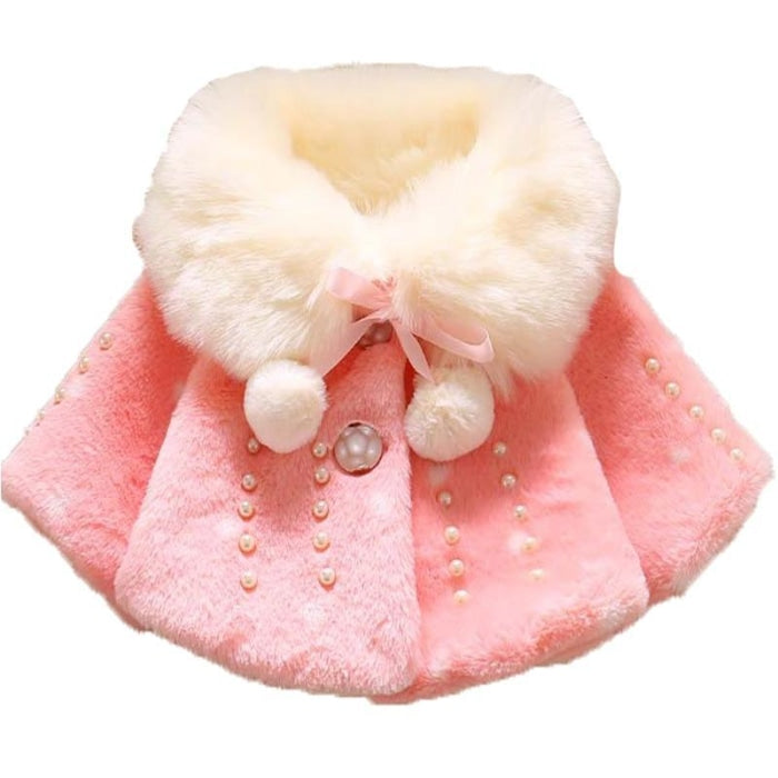 Baby Girl Fluffy Woolen/Cotton Winter Coat