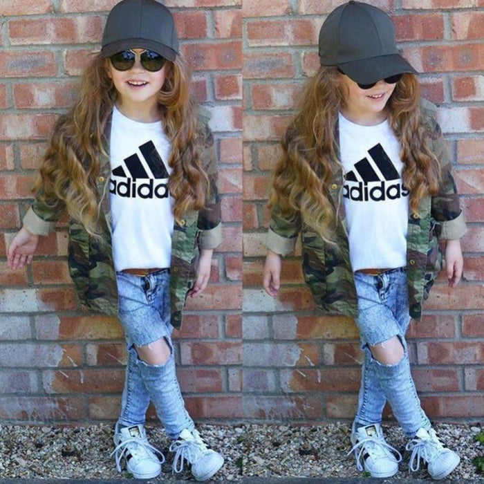 Baby Girls Jacket Army Camouflage Outerwear