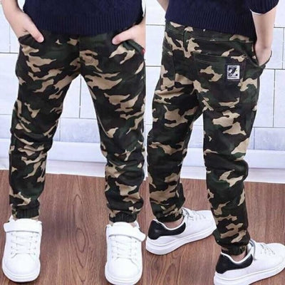 Baby Military Pants Boys Kids Pants - Beige / 3-4 years