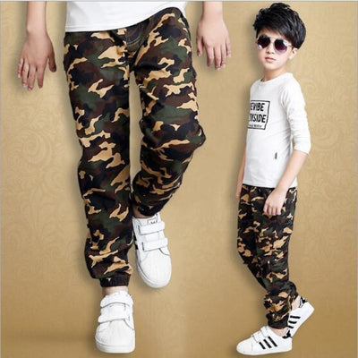 Baby Military Pants Boys Kids Pants - Green / 3-4 years