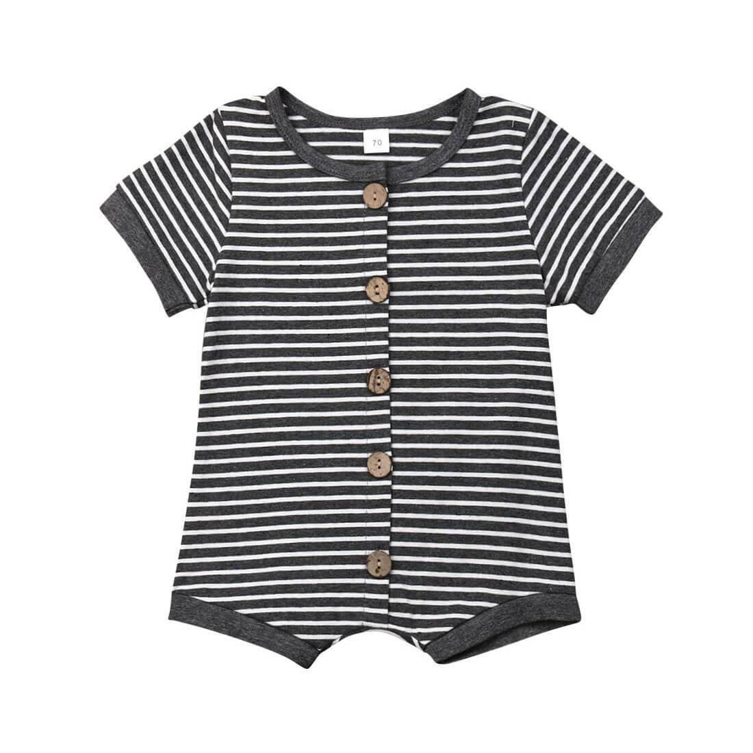 Basic Striped Romper - 3-6 months