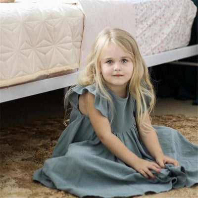 Beautiful Summer Long Twirl Vintage Dress for Girls