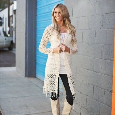 Beautifully Knitted Long Sleeve Matching Cardigan for Mother Daughter