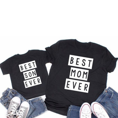 Best Mom Ever & Best Son Ever Matching T-Shirts for Mother and Son