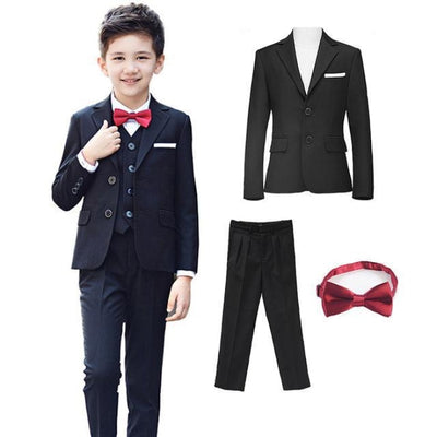 Blazer Pant Tie Set Boys - Black / 2-3 years