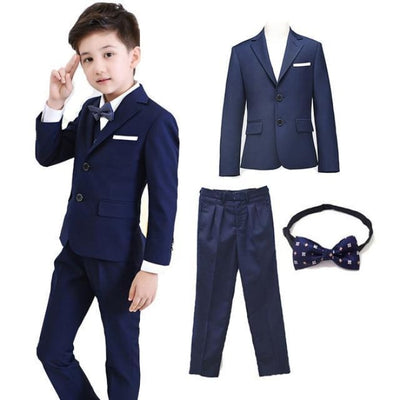 Blazer Pant Tie Set Boys - Navy / 2-3 years
