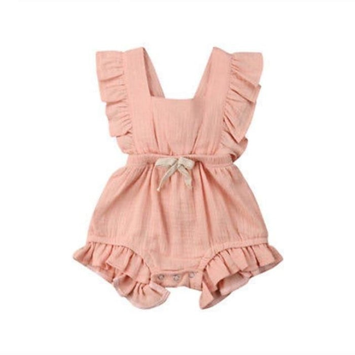 Bohemian Ruffle Style Romper for Baby Girl