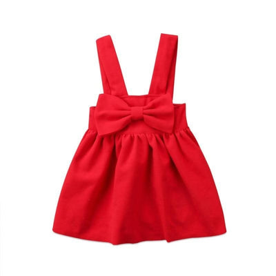 Bow Style Suspender Skirt for Girls