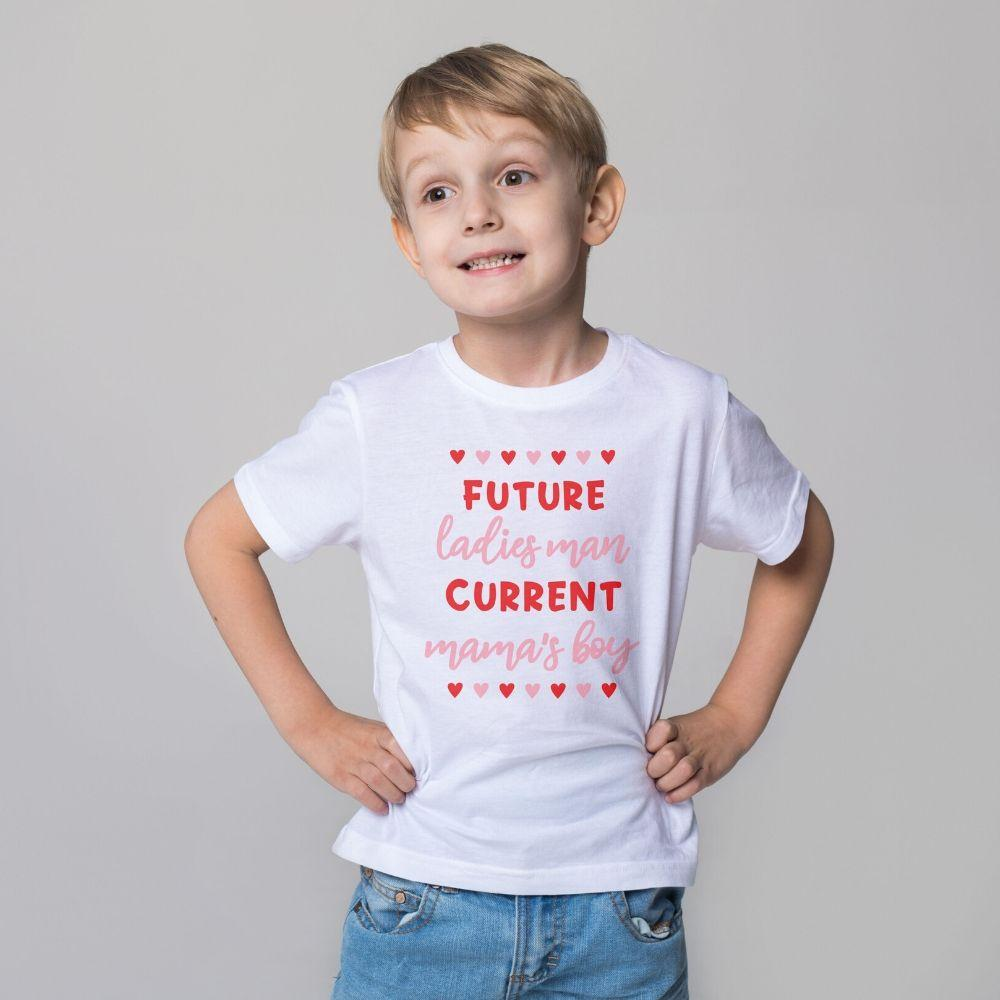 Boys T Shirt Valentine Future Ladies Man