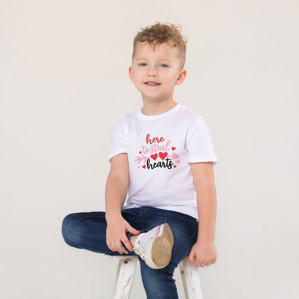 Boys T Shirt Valentine Steal your hearts