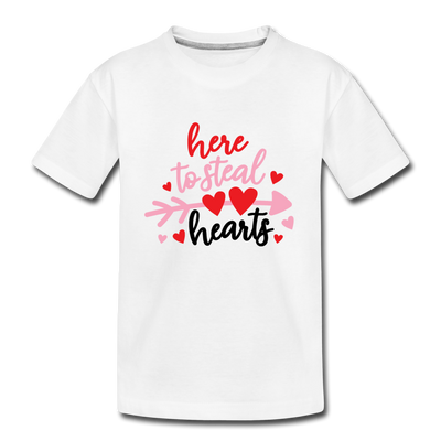 Boys T-shirt Valentine Steal your hearts - white