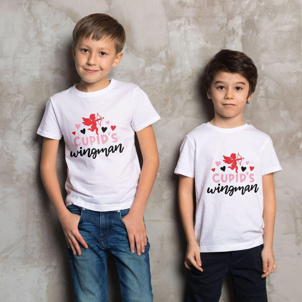 Boys Valentine T Shirt Cupid Wingman